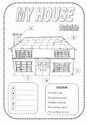 Inside the Living Body Worksheet Fresh My House Outside Inside Two Pages Esl Worksheet by