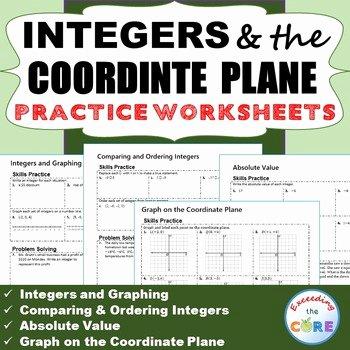 Integers Word Problems Worksheet Inspirational Integers & Coordinate Plane Homework Worksheets Skills