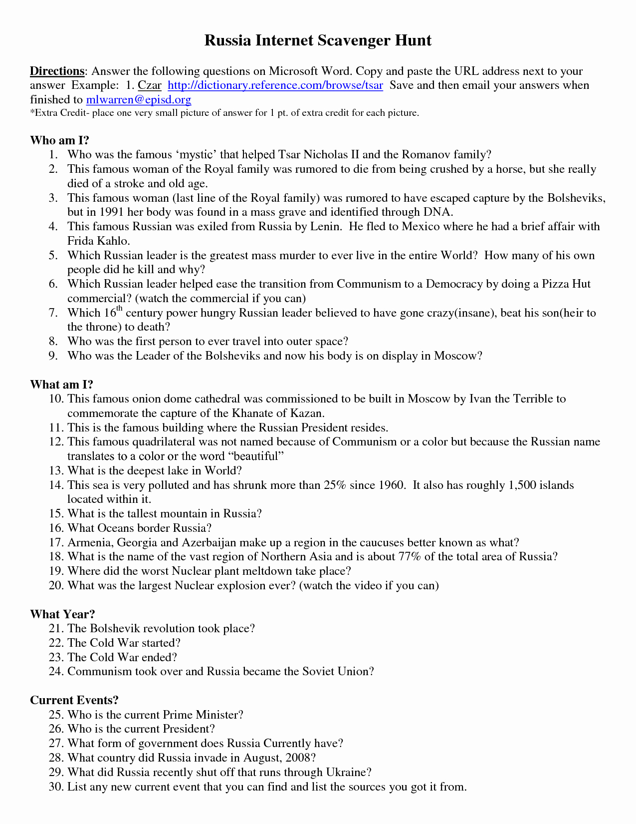 Internet Scavenger Hunt Worksheet Best Of 16 Best Of Puter History Questions and Answers
