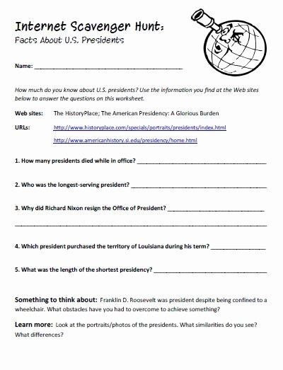 Internet Scavenger Hunt Worksheet Inspirational Education World Internet Scavenger Hunts Different Subj