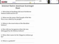 Internet Scavenger Hunt Worksheet Luxury Internet Native American Scavenger Hunt 4th 5th Grade