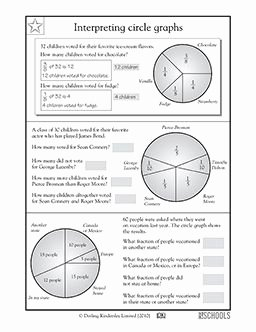 Interpreting Graphs Worksheet Answers Beautiful 5th Grade Math Worksheets Interpreting Circle Graphs