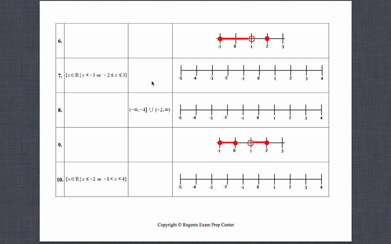 Interval Notation Worksheet with Answers Beautiful Gyles Summer Math 2013 Interval Notation Set Builder