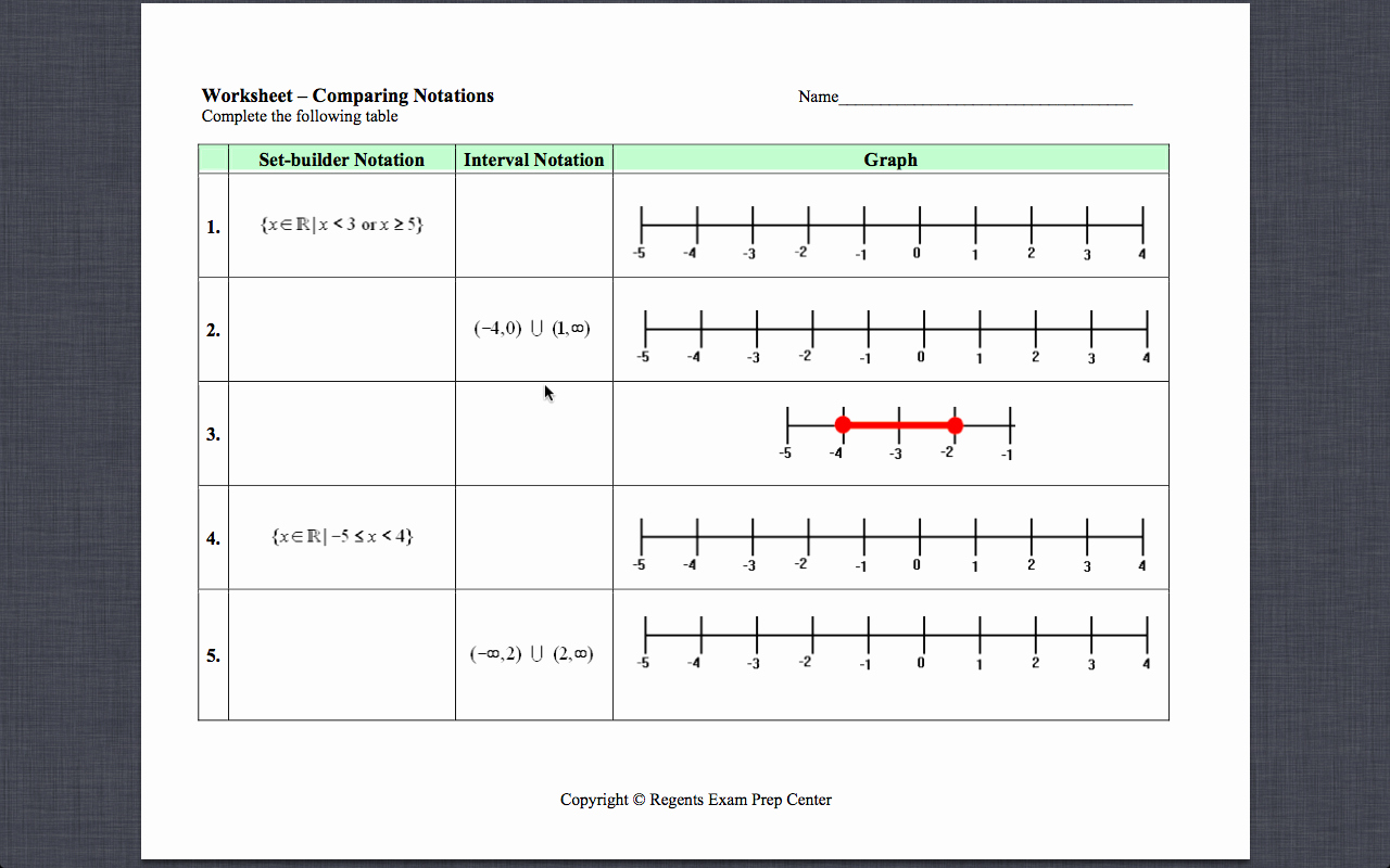 Interval Notation Worksheet with Answers Fresh Gyles Summer Math 2013 July 2013