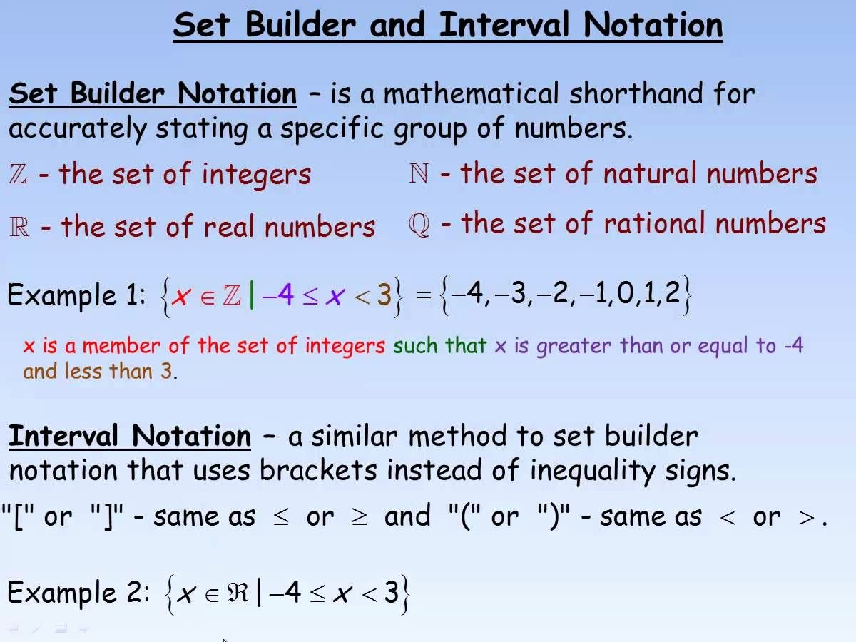 Interval Notation Worksheet with Answers New Set Builder Notation Worksheet with Answers Pdf