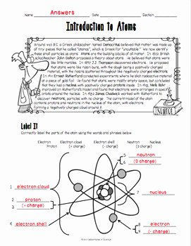 Introduction to Chemistry Worksheet Best Of Introduction to atoms Worksheet by Adventures In Science