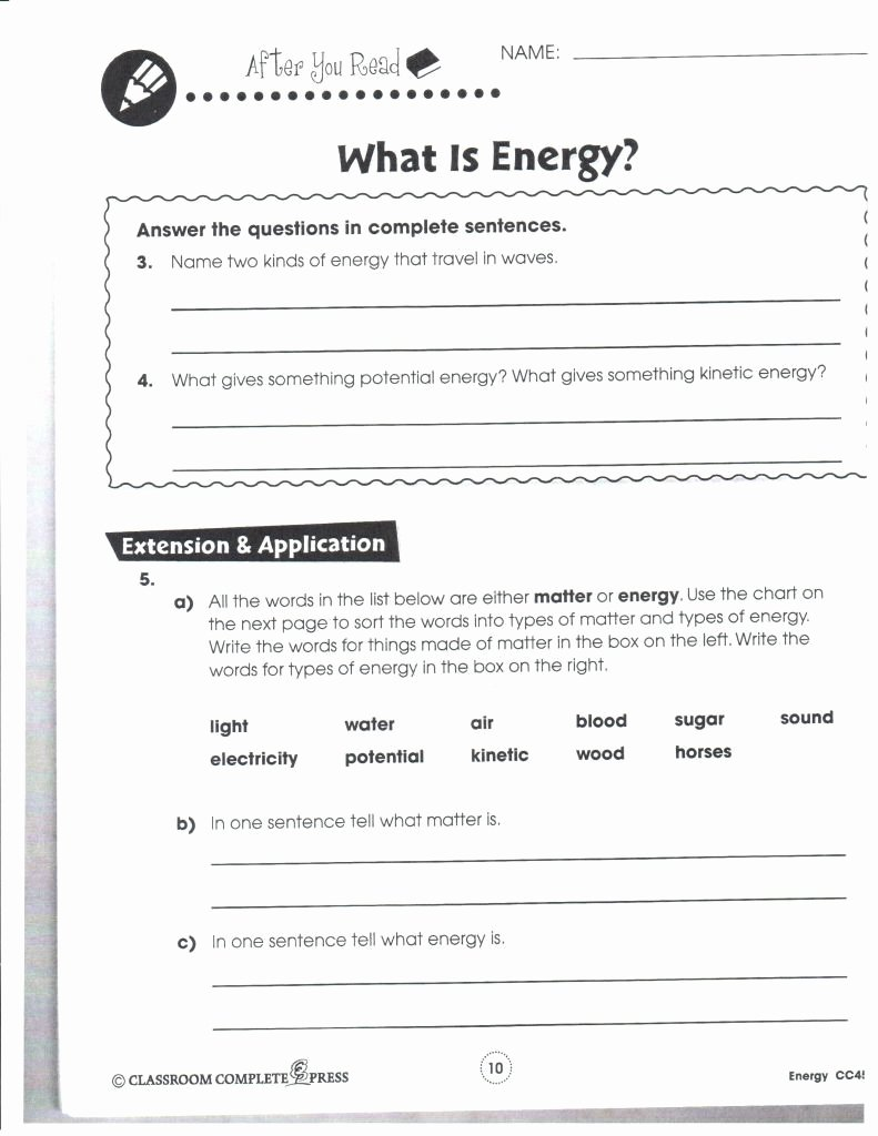 Introduction to Energy Worksheet Answers Best Of Introduction to Energy Worksheet Answer Key and forms