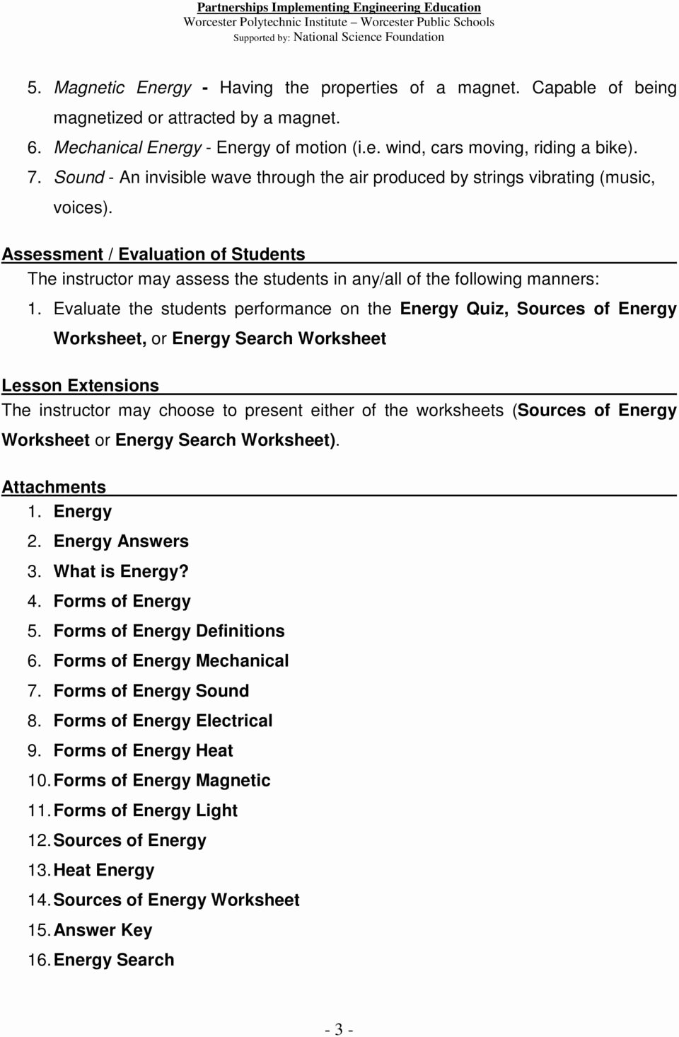 Introduction to Energy Worksheet Answers Elegant Introduction to Energy Worksheet Answer Key and forms
