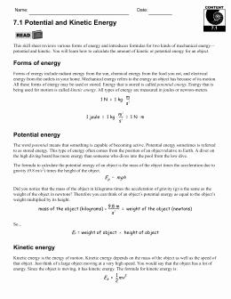 Introduction to Energy Worksheet Answers Fresh Studylib Essys Homework Help Flashcards Research