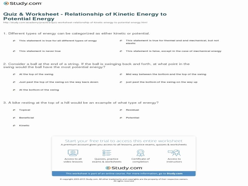 Introduction to Energy Worksheet Best Of Introduction to Energy Worksheet Answers Free Printable