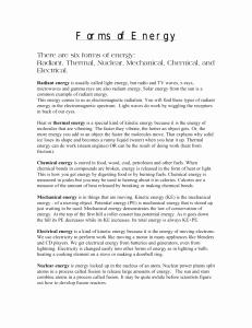 Introduction to Energy Worksheet New Introduction to Energy Worksheet