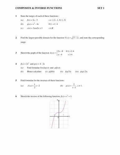 Inverse Functions Worksheet with Answers Best Of Inverse Function Worksheet