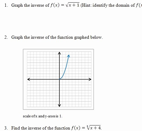 Inverse Functions Worksheet with Answers Elegant Inverse Functions Worksheet and Answer Key Free 25