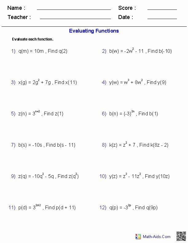 Inverse Functions Worksheet with Answers Fresh Inverse Function Worksheet