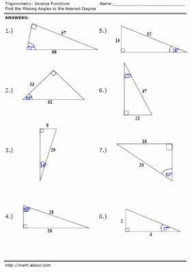 Inverse Functions Worksheet with Answers Fresh Trigonometry Inverse Function Worksheet