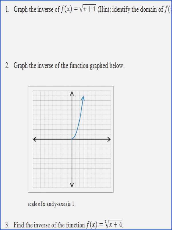 Inverse Functions Worksheet with Answers Inspirational Graphing Inverse Functions Worksheet