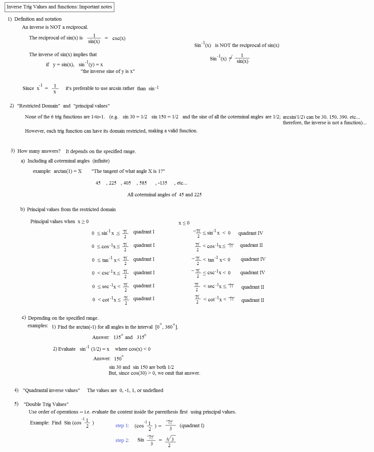 Inverse Functions Worksheet with Answers Unique Derivatives Inverse Trigonometric Functions Worksheet
