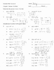 Inverse Functions Worksheet with Answers Unique Operations Functions Worksheet with Answers