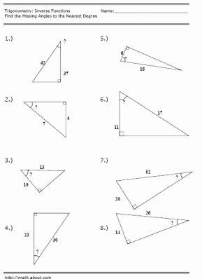 Inverse Trigonometric Functions Worksheet Best Of Trigonometry Inverse Function Worksheet
