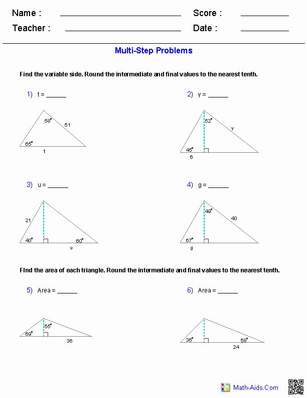 Inverse Trigonometric Functions Worksheet New Trig Worksheets
