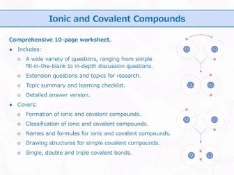 Ionic and Covalent Bonding Worksheet Best Of the Periodic Table and Chemical Bonding [worksheet Bundle