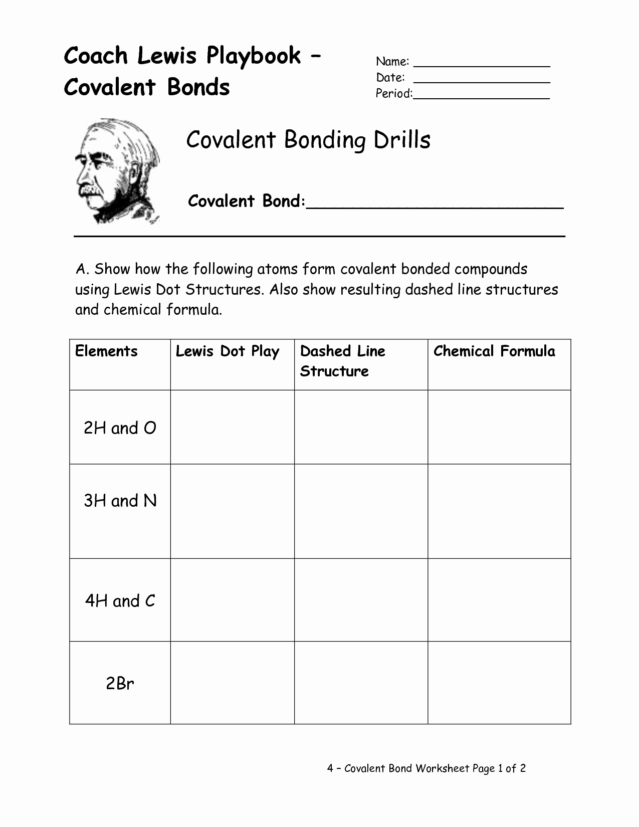 Ionic and Covalent Bonds Worksheet Inspirational 14 Best Of Worksheet Elements and Bonding Ionic