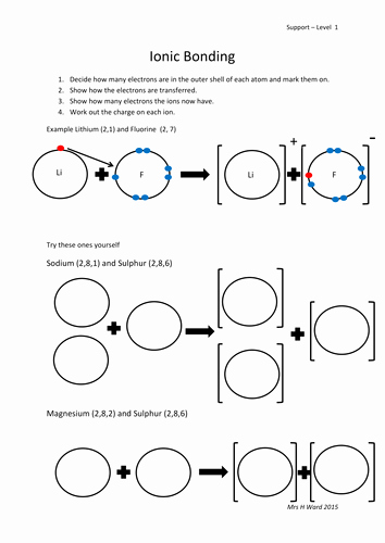 Ionic and Covalent Bonds Worksheet New Ionic Bonding Differentiated Ws by Hevr