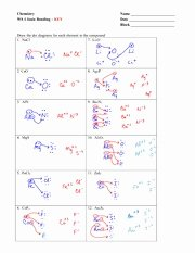 Ionic Bonding Worksheet Answer Key Elegant Ionic Bonding Worksheet Key Chemistry Ws 1 Ionic