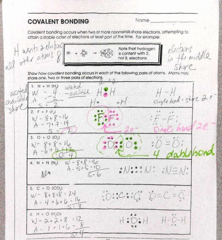 Ionic Bonds Worksheet Answers Beautiful Ionic Bond Worksheet