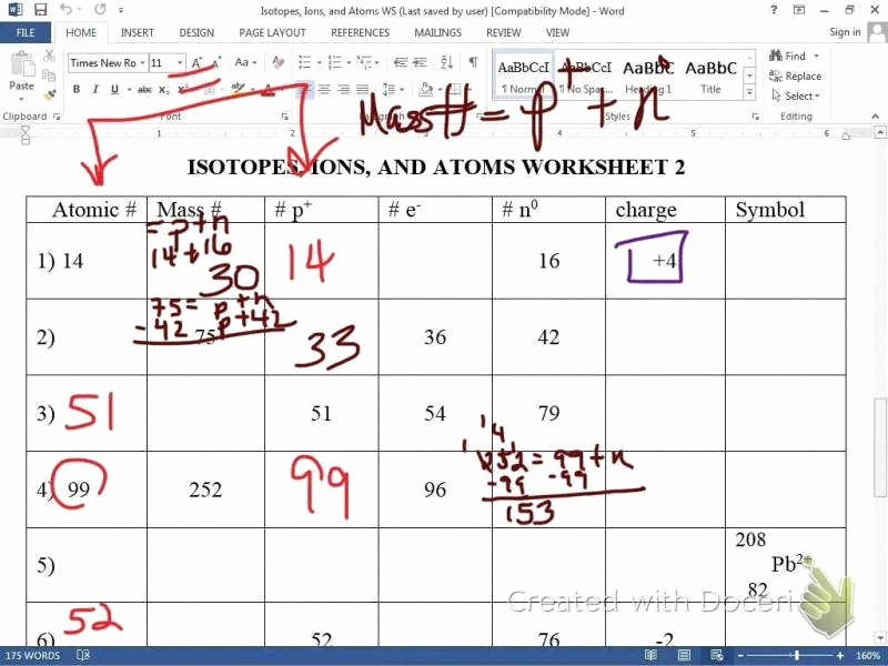 Ions and isotopes Worksheet New isotopes Worksheet