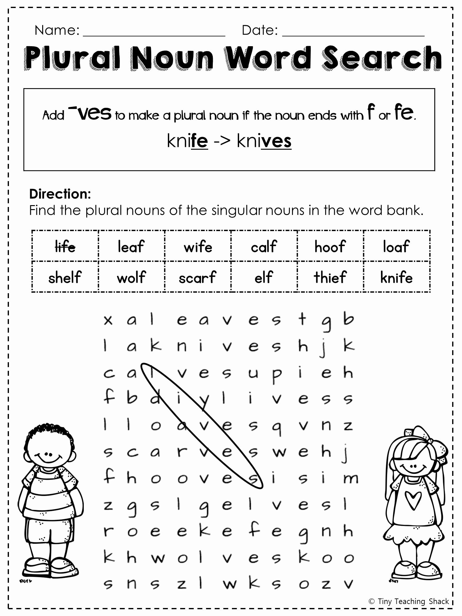 Irregular Plural Nouns Worksheet Best Of Free Irregular Plural Noun Word Search …