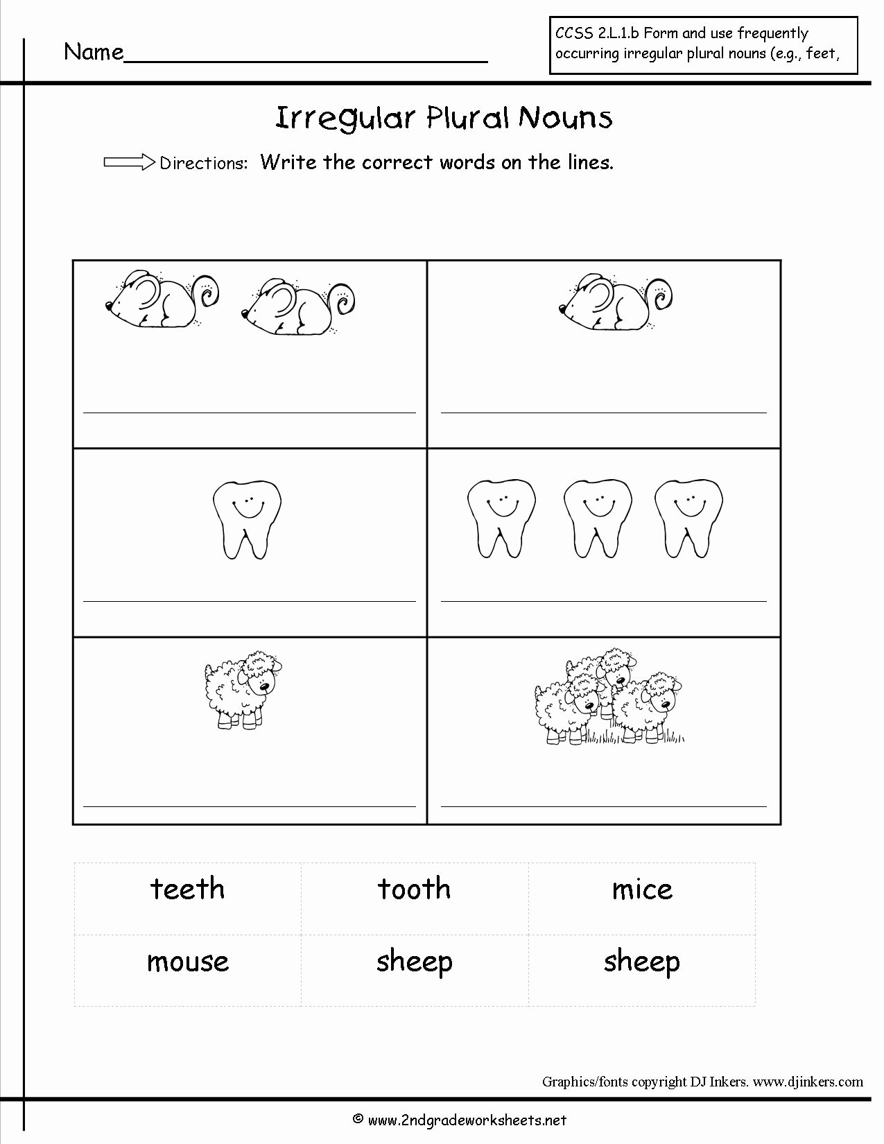 Irregular Plural Nouns Worksheet Fresh Singular and Plural Nouns Worksheets