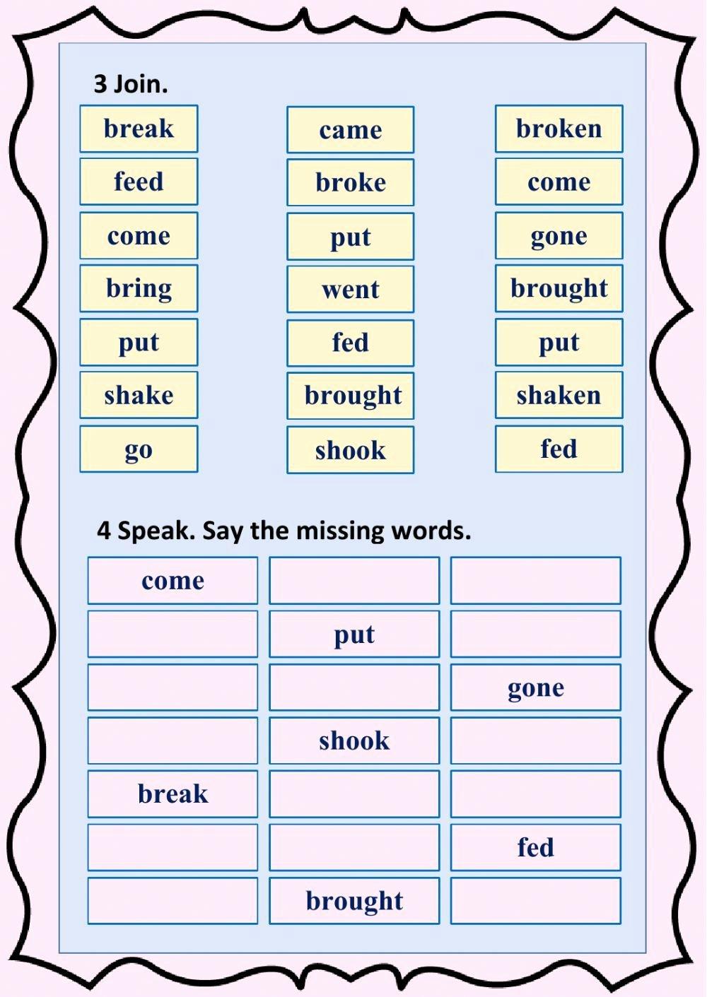 Irregular Verbs Worksheet Pdf Best Of Irregular Verbs Interactive and Able Worksheet