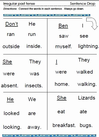 Irregular Verbs Worksheet Pdf Elegant Irregular Past Tense Verbs – Word Lists Worksheets