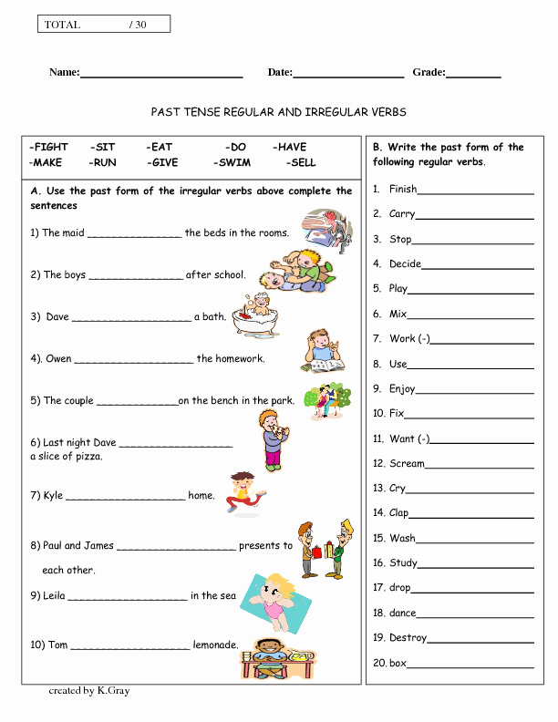 Irregular Verbs Worksheet Pdf Inspirational Regular and Irregular Verbs Past Tense
