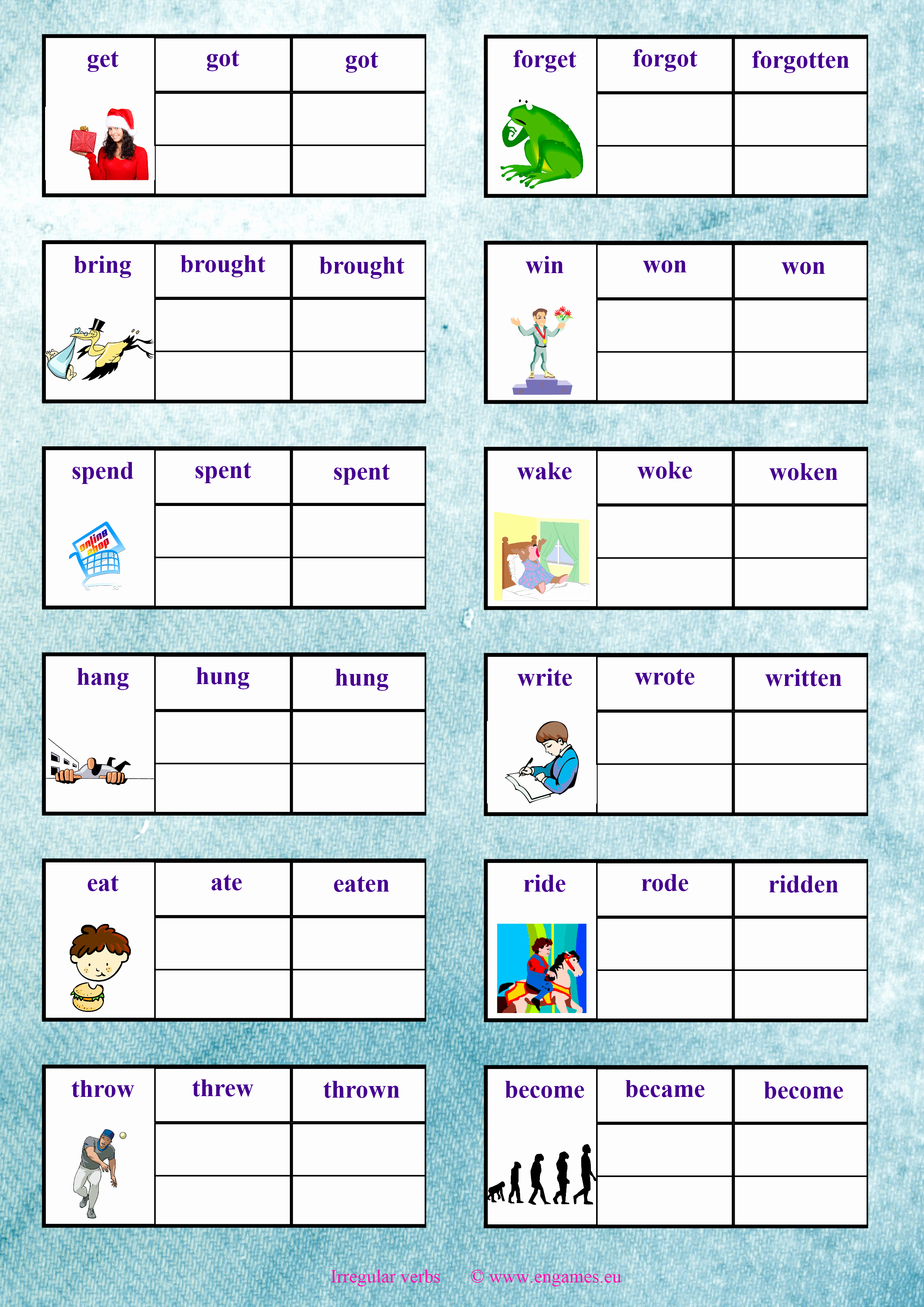 Irregular Verbs Worksheet Pdf Luxury Irregular Verbs Again 2 Games to Learn English