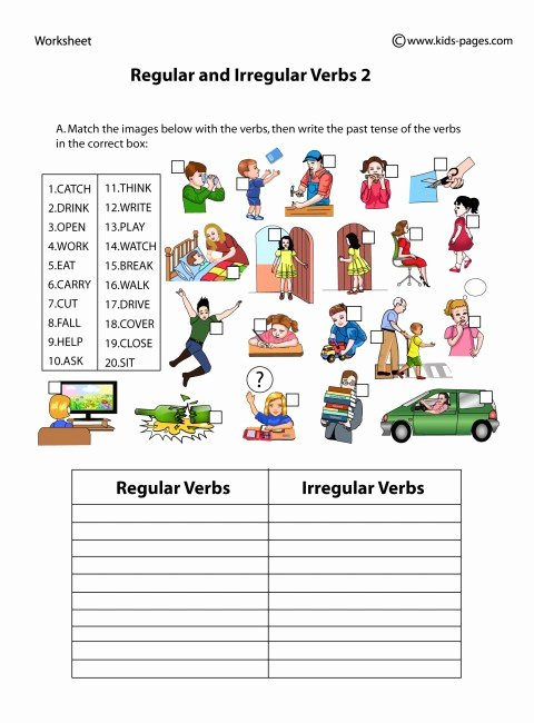 Irregular Verbs Worksheet Pdf Luxury Regular and Irregular Verbs 2 Worksheet