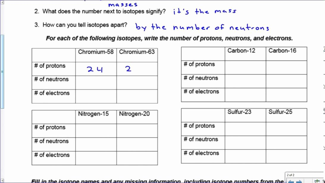 Isotope Practice Worksheet Answer Key New Ions and isotopes Worksheet