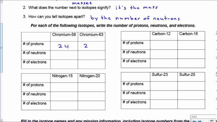 Isotopes Worksheet Answer Key Inspirational isotope Worksheet