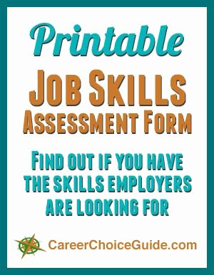 Job Skills assessment Worksheet Awesome Printable Job Skills List Choosing A Career