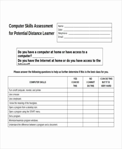 Job Skills assessment Worksheet Best Of 9 Skills assessment Examples Pdf