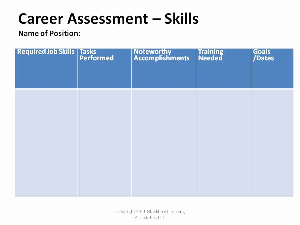 Job Skills assessment Worksheet Best Of the Flap Blackbird Learning associates Resume