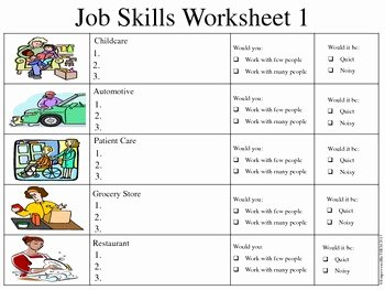 Job Skills assessment Worksheet Elegant Job Skills assessments by Empowered by them