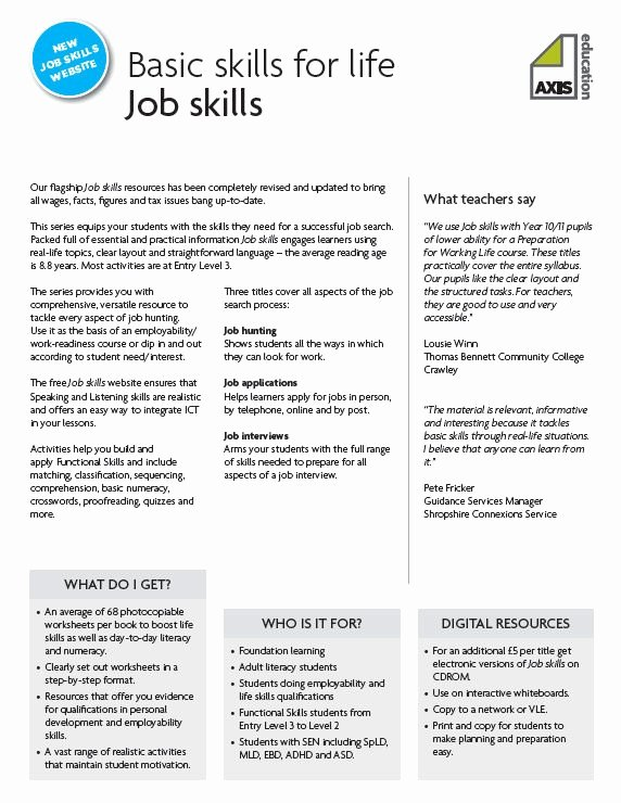 Job Skills assessment Worksheet Fresh 157 Best Images About Classroom Job Skills On Pinterest