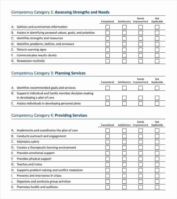 Job Skills assessment Worksheet New 12 Skills assessment Templates Word Excel Pdf formats