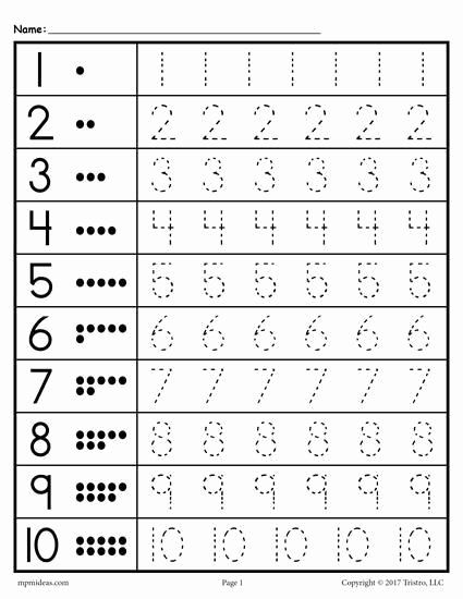Kindergarten Math Worksheet Pdf Beautiful Image Result for Number Tracing Worksheets Pdf