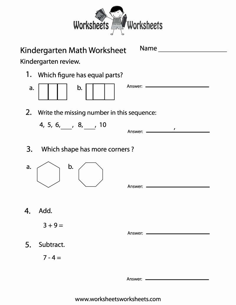 Kindergarten Math Worksheet Pdf Beautiful Kindergarten Math Practice Worksheet Free Printable
