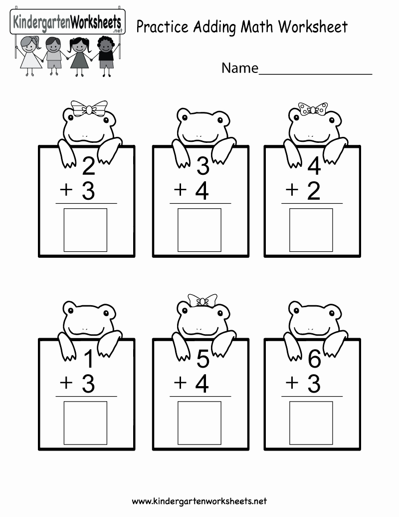 Kindergarten Math Worksheet Pdf Elegant Adding for Kindergarten Worksheets Worksheet Mogenk