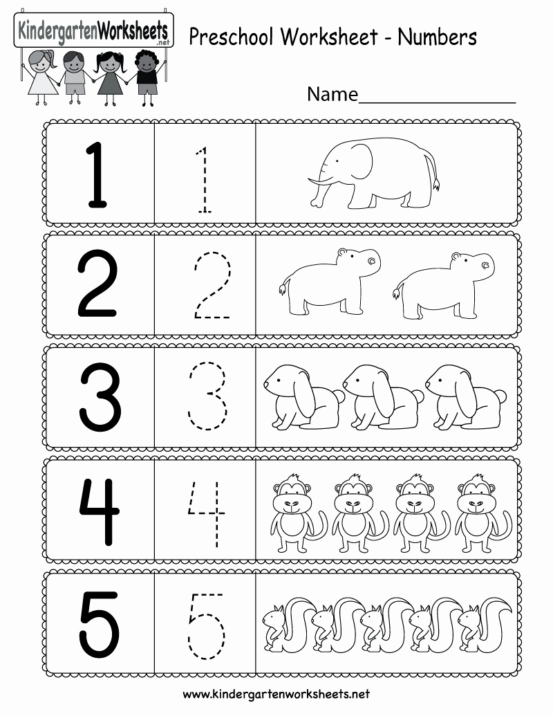 Kindergarten Math Worksheet Pdf Lovely Preschool Worksheet Using Numbers Free Kindergarten Math