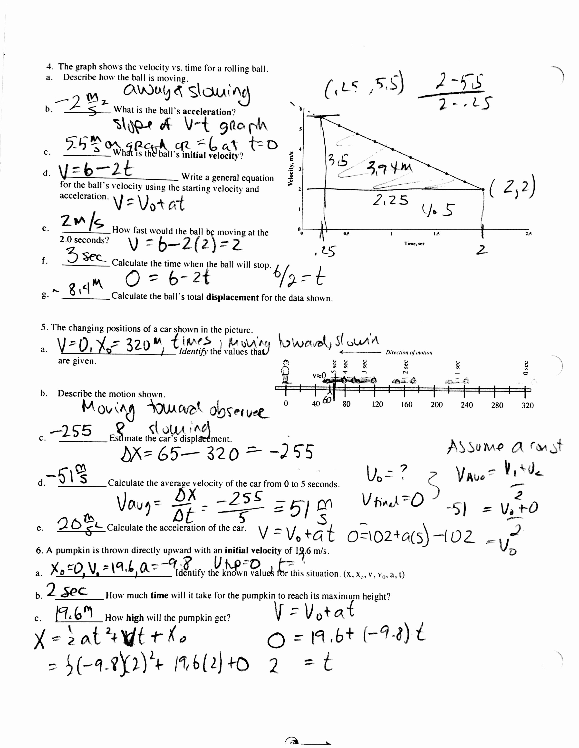 Kinematics Practice Problems Worksheet Best Of 15 Best Of Slope Practice Worksheet 8th Grade